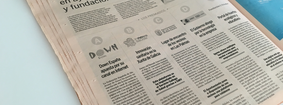 La web de Down España premiada por el diario Expansión